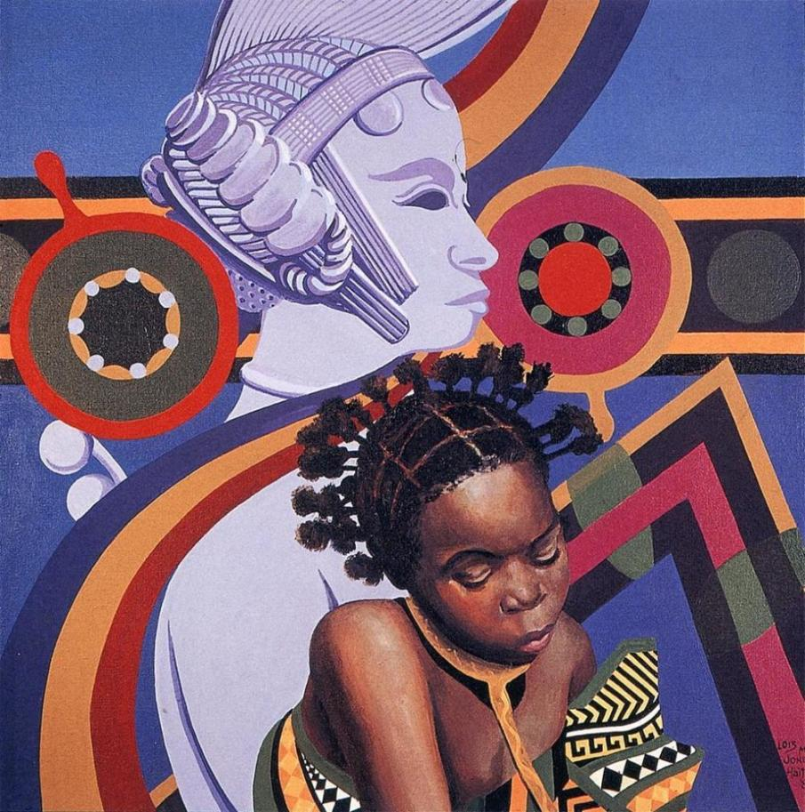 Two African Hairstyles by Lois Mailou Jones