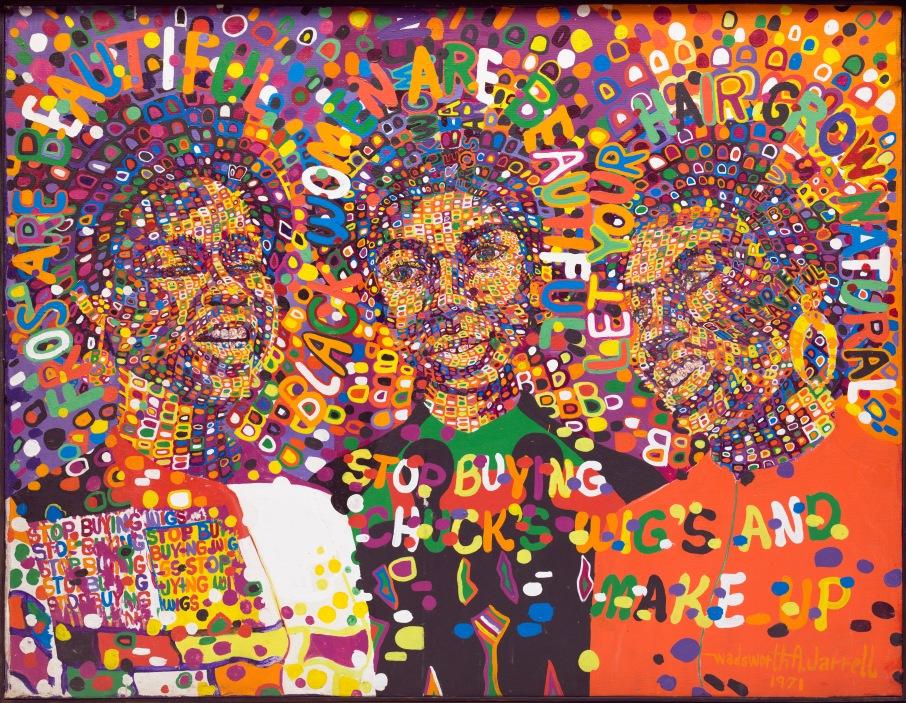 Wadsworth Jarrel, Three Queens, 1971_detroit, valerie mercer